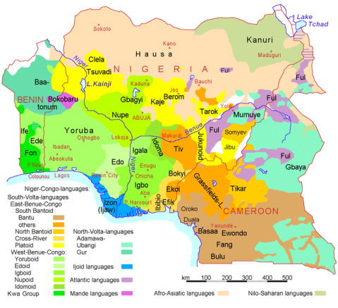 Nigeria Benin and Cameroon languages