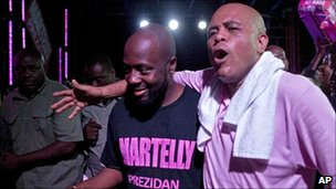 Wycliffe Jean and Michael Sweet Mickey Martelly Haiti
