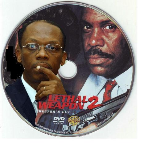 Danny Glover and President Aristide in Haiti