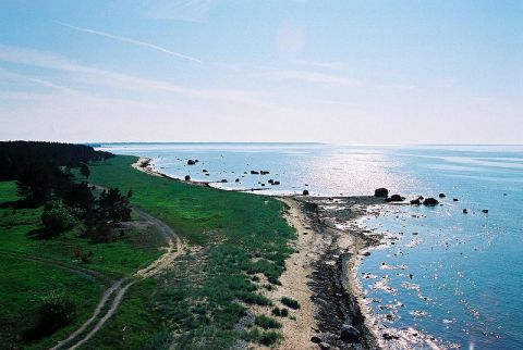 Estonia coastal landscape